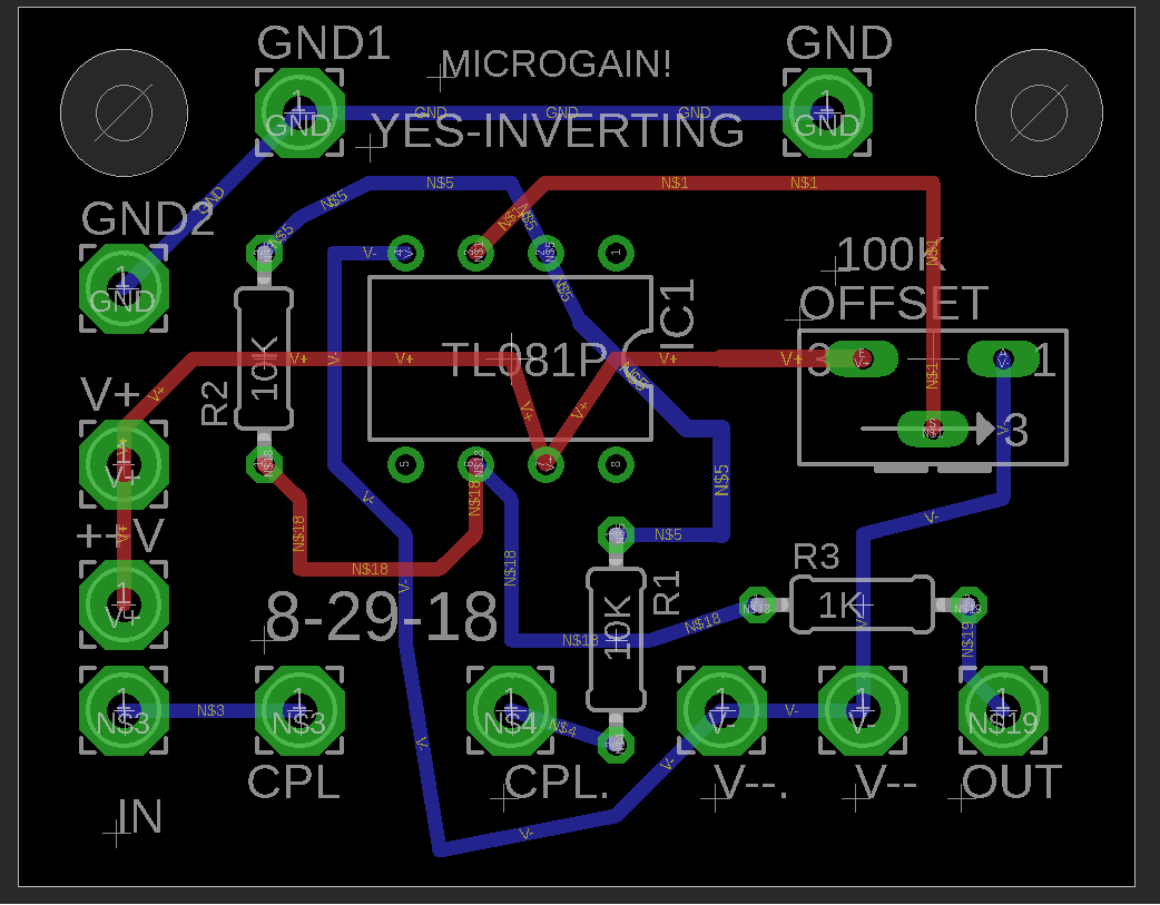 Op Amp Circuits Gain Vcas And Boards Here Is The Circuit Schematic For Board Eagle Files Are