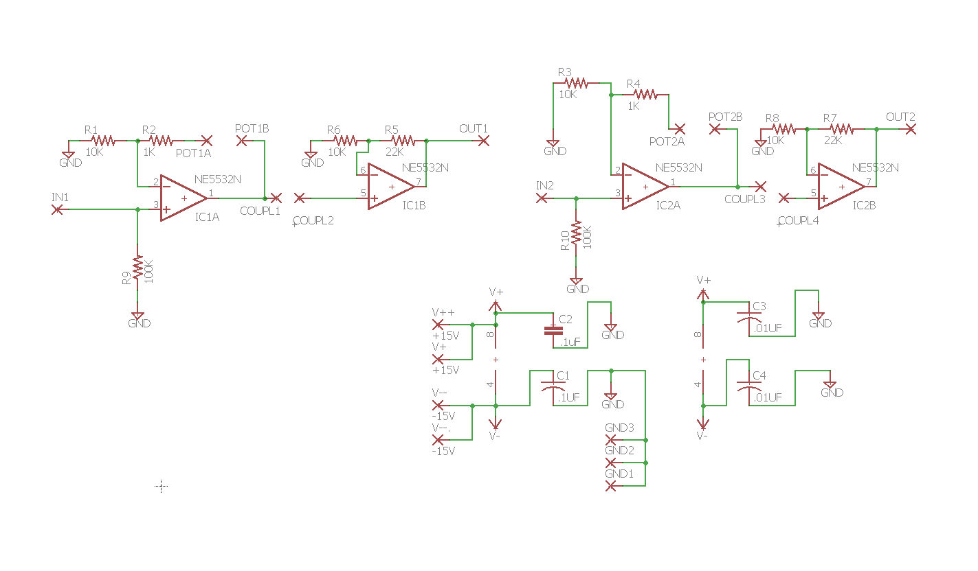 Op Amp Circuits Gain Vcas And Boards Envelope Follower Schematic Here Is Our